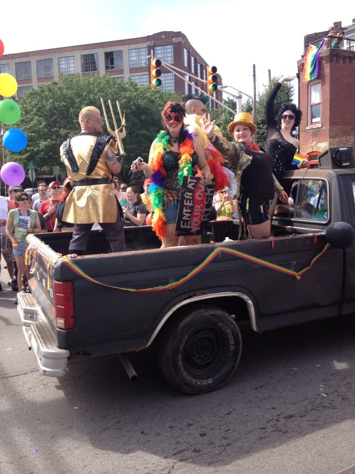 The TLT crew marching in the 2013 Indy Pride parade!