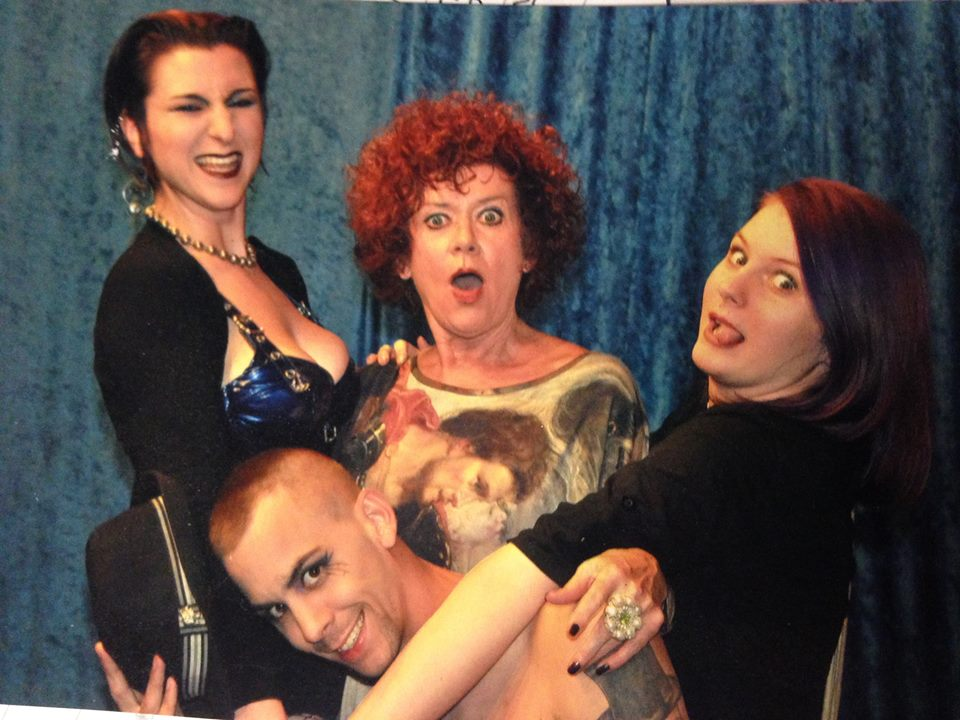 The TLT crew making nice with the ORIGINAL Magenta, Patricia Quinn!