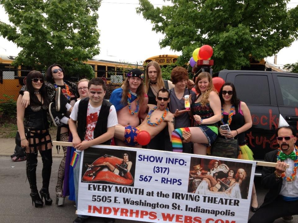 TLT cast and crew preparing for the 2013 Indy Pride Parade!
